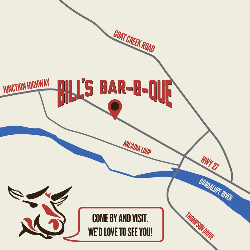 Map to Bill's Bar-B-Que